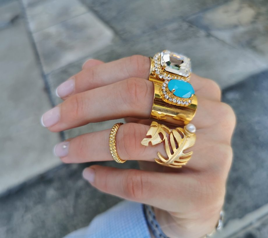 together rings blue yasmine